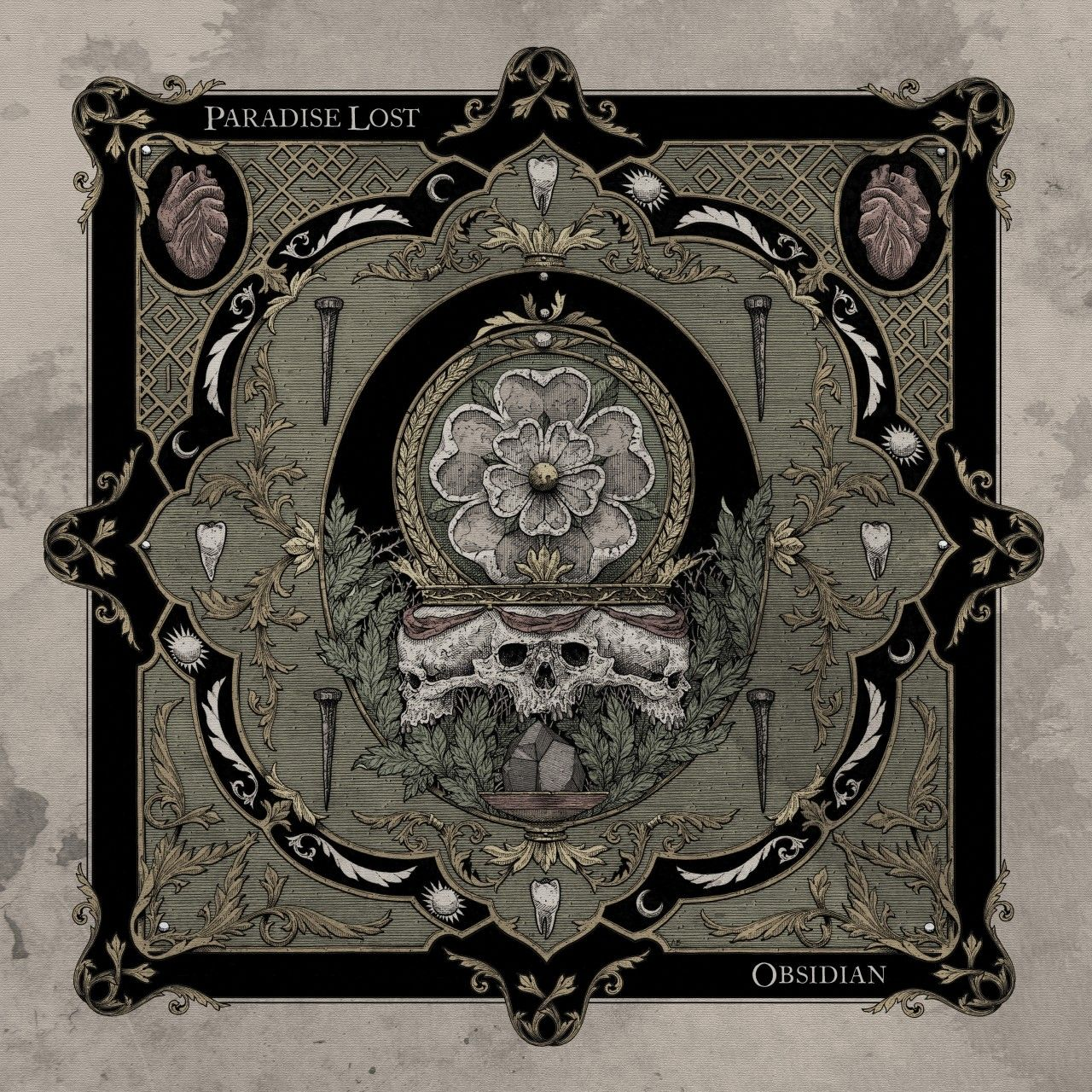 Paradise Lost - Obsidian, CD-Cover
